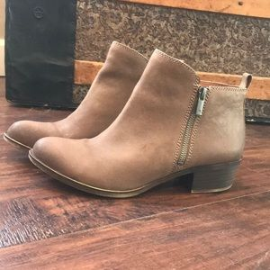 🍀LUCKY BRAND🍀 Leather Upper Ankle Boot sz 8 1/2